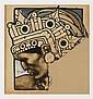 SATURNINO HERRÁN, Caballero águila, Firmada Méx. 1918. Tinta y acuarela sobre papel, 25.5 x 24.5 cm Vo. Bo. Saturnino Herrán Gudiño.