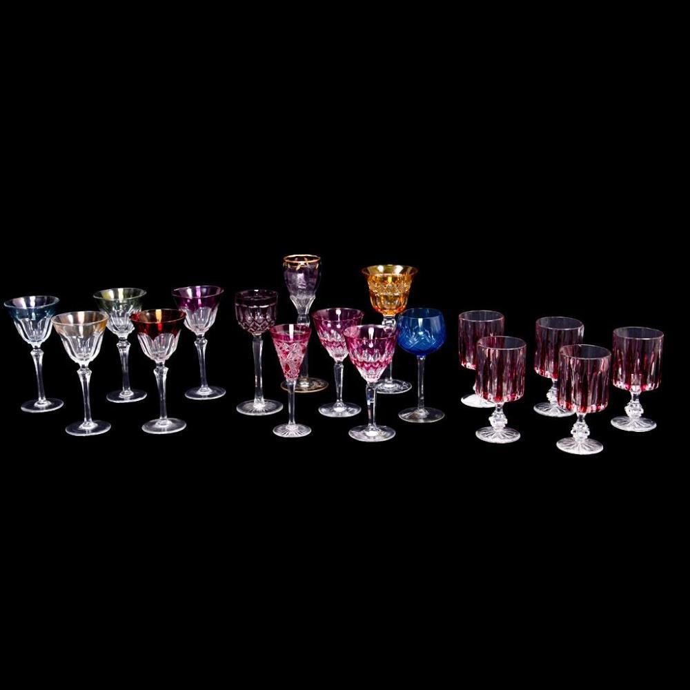 Lote de 17 copas siglo xx elaboradas en cristal de bohemia for Copas de cristal