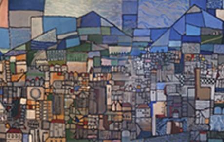 CARLOS PELLICER. Florencia. Firmado y fechado, 1985. eo sobre tela. 117 x 695 cm