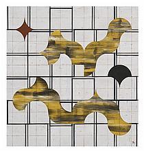 FRANCISCO CASTRO LEÑERO, Juegos de sombras, 2014, Firmado. Óleo sobre tela, 150 x 140 cm, Con certificado.