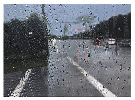 YAMPIER SARDINA, La mirada, de la serie Rain, Firmado y fechado 013. Óleo sobre tela, 75 x 102 cm, Con certificado.