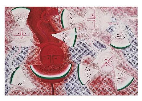 ROLANDO ROJAS, Variación en blanco, Firmado. Óleo y arena sobre lino., 100 x 150 cm, Con certificado del artista.