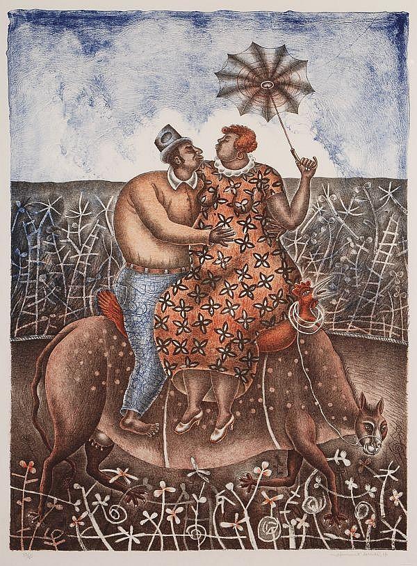 MAXIMINO JAVIER, Sueño de verano, Firmada y fechada, 2005 Litografía, 80 x 60 cm