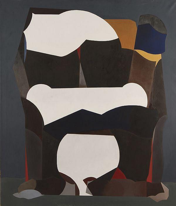 LUIS LÓPEZ LOZA, Tres emociones blancas, Firmado y fechado, 88 Óleo sobre tela, 140 x 120 cm