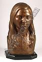 EDUARDO TAMARIZ, Busto de mujer, Firmado y fechado, 70 Escultura en bronce, 45 x 25 x 19 cm