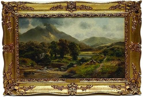 James Peel (1811 - 1906). Escuela inglesa. Ambleside Cumberland. Firmado. Óleo sobre lienzo. 29 x 49 cm.