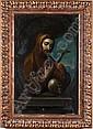 José de Paez ( 1720 - 1790 ). Origen mexicano. San Francisco de Asís Óleo sobre lienzo. Firmado y fechado 1756. 45 x 29.5 cm., José (1720) Paez, Click for value