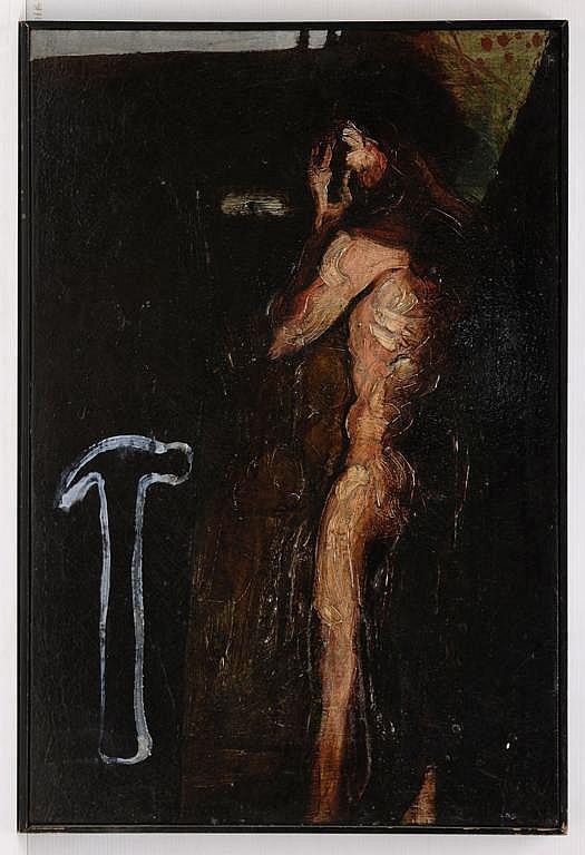 LUCIANO SPANÓ, El derecho al presente, Firmado y fechado 94 al reverso, Óleo sobre tela, 90 x 60 cm