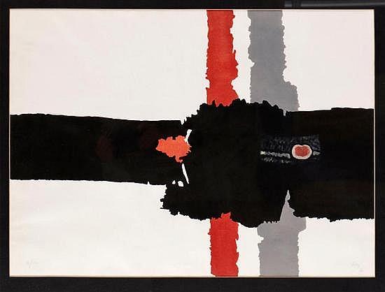 ANTONIO RODRÍGUEZ LUNA, Manzana, Firmada y fechada 76. Litografía 71 / 150, 55 x 74.5 cm