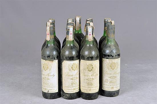 Viña Monty. Cosecha 1971 (7) y 1973 (6). Rioja. Piezas: 13
