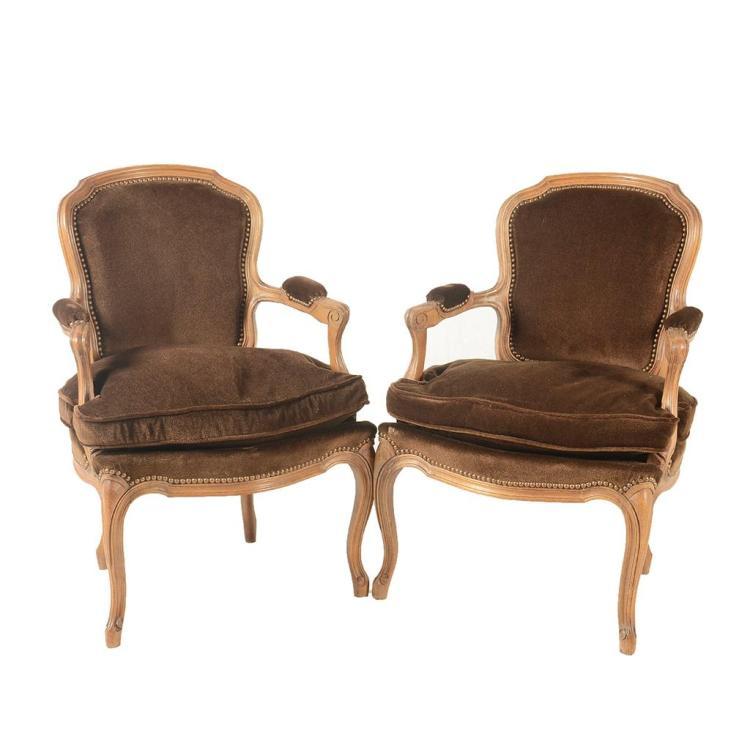 Par de sillones francia siglo xx estilo luis xv elaborad for Sillones de madera
