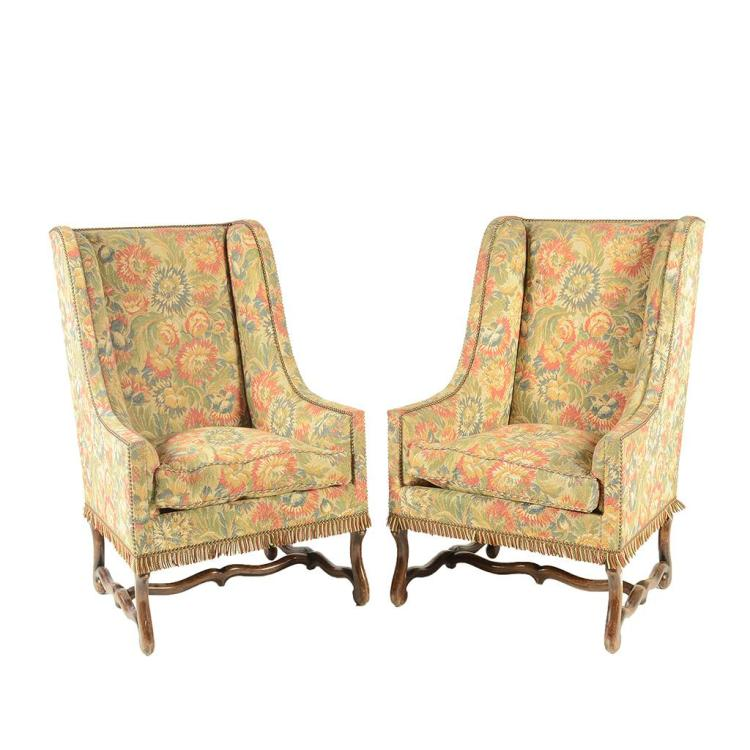 Par de sillones francia siglo xx estilo luis xiii elabor - Sillones con estilo ...
