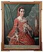 JOSÉ DE PÁEZ (MÉXICO, 1727-1790). Retrato de Doña Mariana Luisa Ruiz de la Rabia. Óleo sobre tela. 103 x 78 cm, José (1720) Paez, Click for value