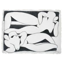 IGNACIO ORTIZ, El reflejo, Signed, Charcoal on paper, 64 x 84 cm / 25.1 x 33 inches, With certificate