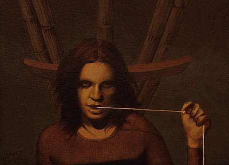 ARTURO RIVERA, Mujer, Firmado y fechado 2000, Óleo sobre tela sobre madera, 30 x 40.5 cm.