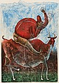 MAXIMINO JAVIER, Domador de chiva, Firmada y fechada 06, Litografía 48 / 80, 80.5 x 61 cm., Maximino  Javier, Click for value