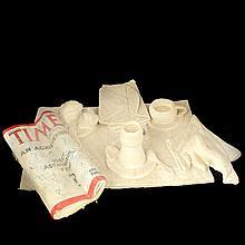 Naomi Siegmann. El desayuno. Óleo sobre papel moldeado hecho a mano.