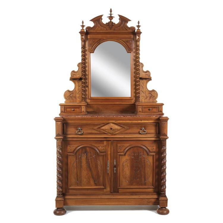 C moda con espejo francia siglo xx elaborado en madera ta - Comoda con espejo ...