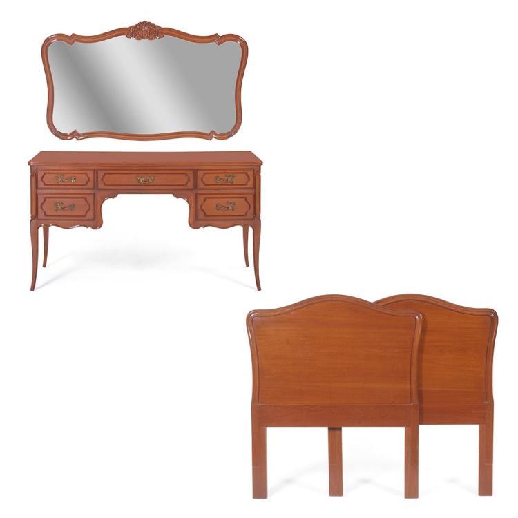Muebles para rec mara s xx madera tallada y enchapada a for Recamaras individuales