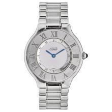 MUST DE CARTIER wristwatch. Steel case and bracelet. Quartz.