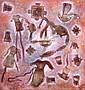 SERGIO HERNÁNDEZ, La niña de los vestidos, Firmado y fechado, 2000 Óleo sobre lino, 80 x 75 cm, certificado autenticidad artista, Sergio Hernandez, Click for value