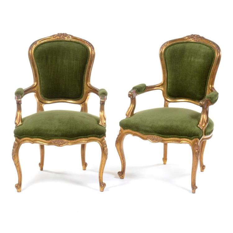 Par de sillones siglo xx estilo luis xv elaborados en mad - Sillones de estilo ...