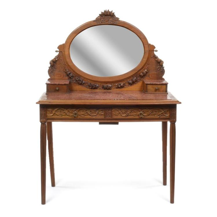 Tocador con espejo francia siglo xx estilo luis xvi elab - Tocador con espejo ...