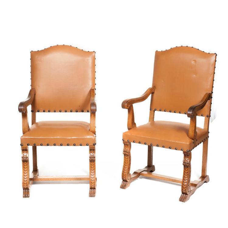 Par de sillones francia siglo xx elaborados en madera tal for Sillones de madera