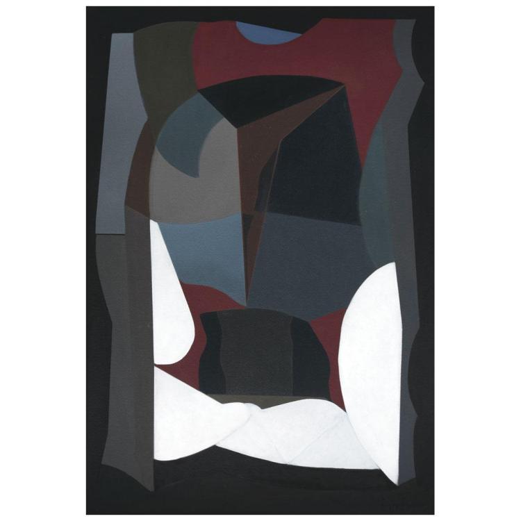 luis l pez loza rojo emocional 1987 signed oil on canvas. Black Bedroom Furniture Sets. Home Design Ideas