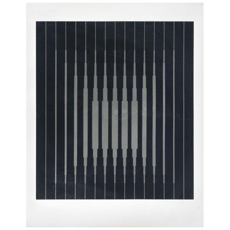 victor vasarely bo ra signed screenprint 151 200 56 x. Black Bedroom Furniture Sets. Home Design Ideas