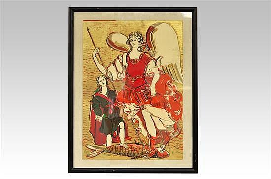 Carmen Parra (México, 1944). Sin título. Serigrafía. Firmado. Enmarcado. Dimensiones: 62.5 x 44.5 cm.