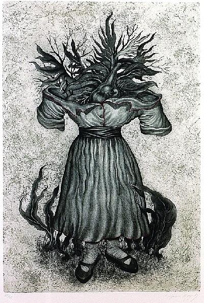 LUCÍA MAYA, Madre corazón, Firmado y fechado, 1989 Grabado, Aguafuerte 52/75, 88 x 60 cm