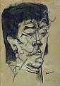 JOSÉ LUIS CUEVAS, Mujer, Firmada y fechada 54 Tinta sobre papel montado en tela, 60.3 x 43 cm., Jose Luis Cuevas, Click for value