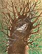 JUAN SORIANO, Murciélago, Firmada y fechada 75, Litografía 25 / 200, 63 x 49.5 cm.
