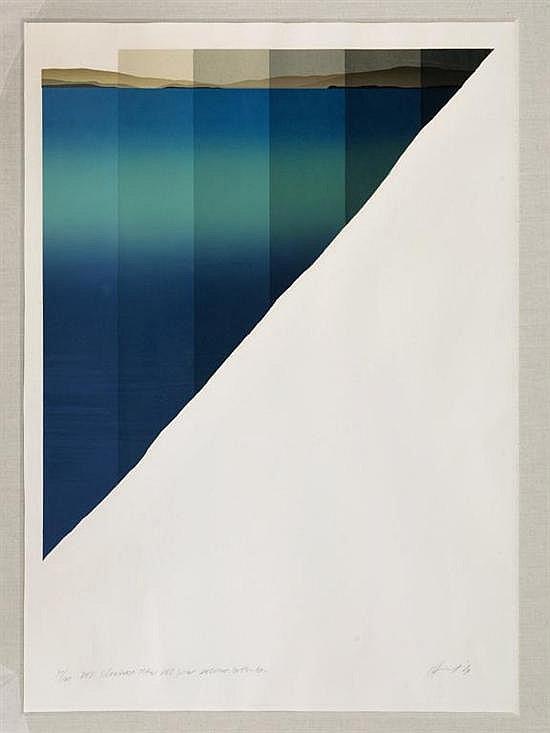 JAN HENDRIX, Del Silencioso Mar del Sur. Delirio Interno, Firmada. Serigrafía 30 / 100, 67 x 58 cm