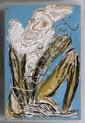 CHUCHO REYES, Payaso, Sin firma. Anilina sobre papel de china, 75 x 49.5 cm
