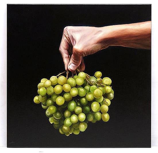 CHRISTIAN BORBOLLA, Abundancia, de la serie Bodegones Modernistas, 2009, Firmado. Óleo sobre tela., 100 x 100 cm, Con certificado.