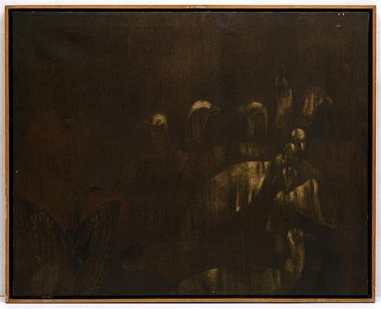 EMILIO ORTIZ, Sin título, Firmado. Óleo sobre tela, 80 x 100 cm
