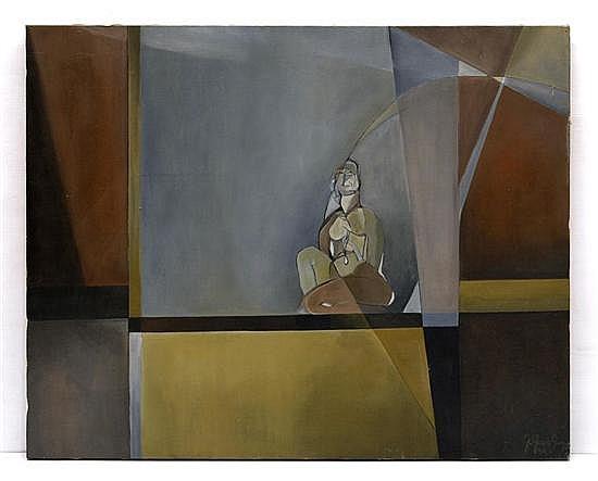 G. GARCÍA SAINZ, Sin título, Firmado y fechado 94. Acrílico sobre tela, 80 x 99.5