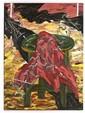 LUIS ARGUDÍN, Paisaje, Firmado y fechado 87 al frente y al reverso. Óleo sobre tela, 135 x 100 cm