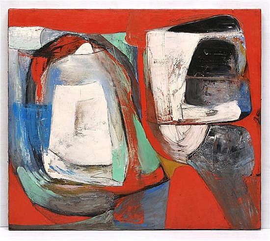 FRANCISCO MENDOZA, Comparsa, Firmado y fechado 1992 al reverso. Óleo sobre tela, 70 x 80 cm