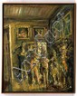 JAZZAMOART, Variaciones sobre un mismo tema (Las Meninas), Firmado Méx 89 al reverso. Óleo/ tela, 99 x 79.5 cm, Con certificado.