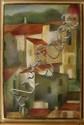 SILVIA H. GONZÁLEZ, Casas, Firmado y fechado 97. Óleo y lápices de cera sobre cartón, 60.5 x 40 cm, Con certificado de autenticidad.