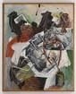 LUIS ARGUDÍN, Sin título, Firmado y fechado 86. Óleo sobre tela, 100 x 80 cm, Con certificado de autenticidad.