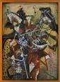 LUIS ARGUDÍN, Sin título, Firmado y fechado 86. Acrílico y carboncillo/ papel/ fibracel, 89 x 64.5 cm, Con certificado de autenticidad.
