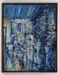 JAZZAMOART, Meninas Beboperas, Firmado y fechado 89. Óleo sobre, 100 x 80 cm, Con certificado de autenticidad.
