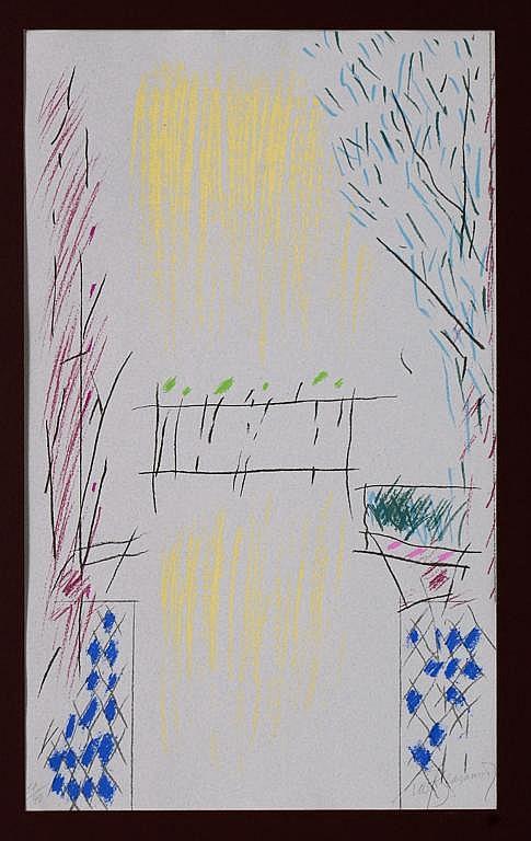 ALBERT RÀFOLS-CASAMADA, Sin título, 1979, Firmada. Serigrafía 11 / 90, 53 x 31 cm