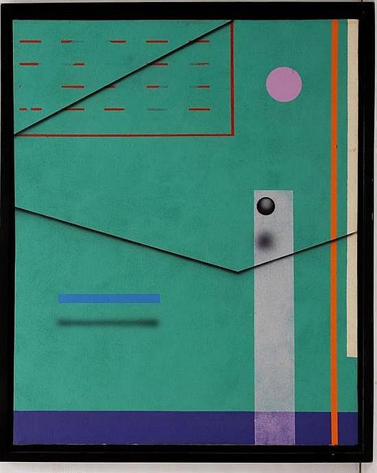 JUAN SÁNCHEZ-JUÁREZ, Pintura cinética, Sin firma. Óleo sobre tela, 100 x 80 cm, Con certificado de autenticidad.