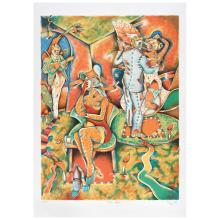 SAÚL KAMINER, Amor lejano, Signed and dated París 94, Lithograph 37/ 150, 63 x 47 cm / 24.8 x 18.5 inches.