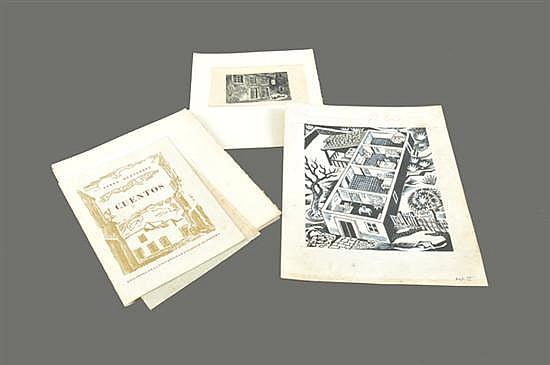 Nueve xilografías de Julio Prieto (México, 1912-1977) y una de Gabriel Fernández Ledesma (México, 1900-1983)